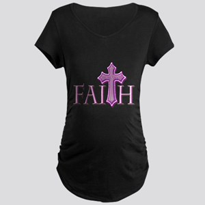 Woman of Faith Maternity Dark T-Shirt