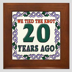 20th Wedding Anniversary Framed Tile