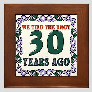 30th Wedding Anniversary Framed Tile