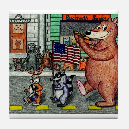 4th of July Parade Tile Coaster
