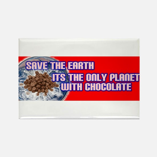 Save Earth only planet with c Rectangle Magnet