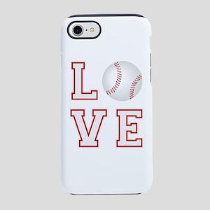 Love Baseball iPhone 8/7 Tough Case