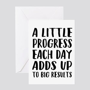 Weight loss motivation greeting cards cafepress greeting cards a little progress each day adds up to big results m4hsunfo