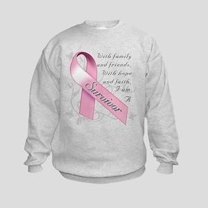 Breast Cancer Survivor Kids Sweatshirt