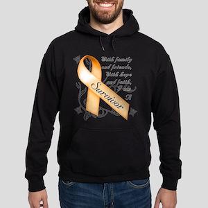 Leukemia Survivor Hoodie (dark)