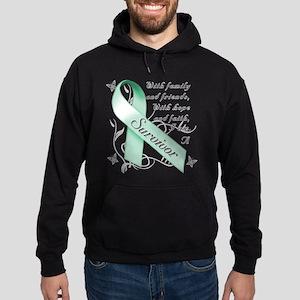 Ovarian Cancer Survivor Hoodie (dark)