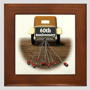 60th Wedding Anniversary Framed Tile