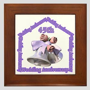 45th Wedding Anniversary Framed Tile