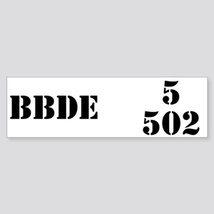 5/502 INF Bumper Sticker