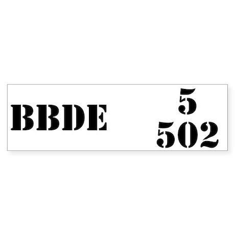 5/502 INF Bumper Sticker