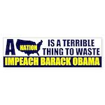 Anti Barack Obama Bumper Sticker (50 pk)