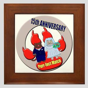 15th Wedding Anniversary Framed Tile