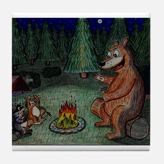 Campfire Ghoststory Tile Coaster