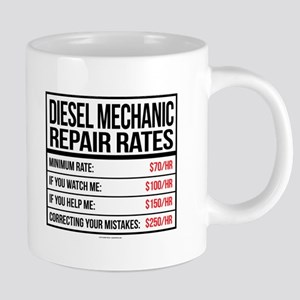 Diesel Mechanic Repair Rate 20 oz Ceramic Mega Mug