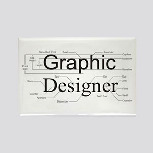 Graphic Designer Rectangle Magnet