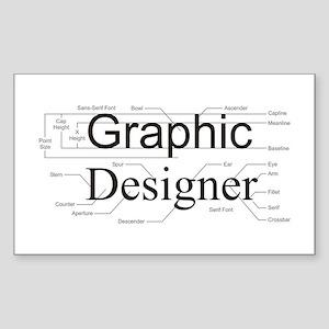 Graphic Designer Rectangle Sticker