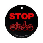 Stop AIDS Ornament (Round)