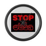 Stop AIDS Large Wall Clock
