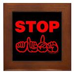 Stop AIDS Framed Tile