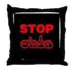 Stop AIDS Throw Pillow