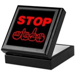 Stop AIDS Keepsake Box