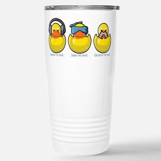 No Evil Ducks Stainless Steel Travel Mug