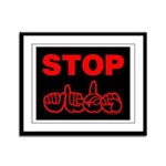Stop AIDS Framed Panel Print