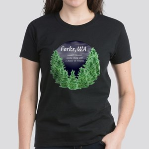 Cloudy with a Chance of Vampires Women's Dark T-Sh