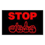 Stop AIDS Rectangle Sticker 10 pk)