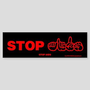 Stop AIDS Bumper Sticker