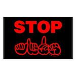 Stop AIDS Rectangle Sticker