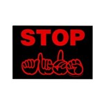 Stop AIDS Rectangle Magnet (100 pack)