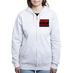Stop AIDS Women's Zip Hoodie