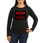 Stop AIDS Women's Long Sleeve Dark T-Shirt