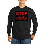 Stop AIDS Long Sleeve Dark T-Shirt