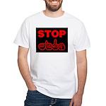 Stop AIDS White T-Shirt