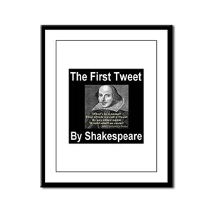 The First Tweet By William Sh Framed Panel Print