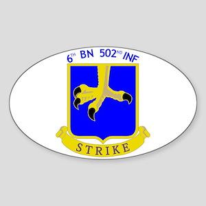 6/502 INF Oval Sticker