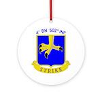 4/502 INF Ornament (Round)
