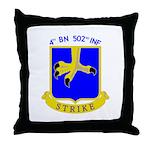 4/502 INF Throw Pillow