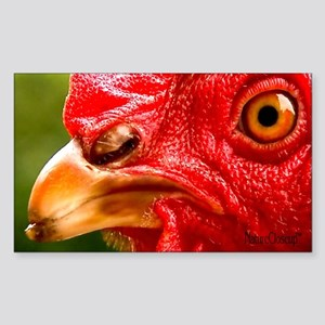 HEN: EXTREME CLOSE-UP Rectangle Sticker