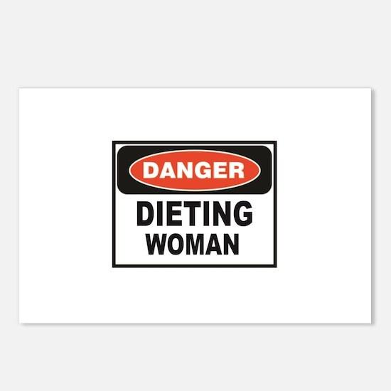 dieting woman fun Postcards (Package of 8)