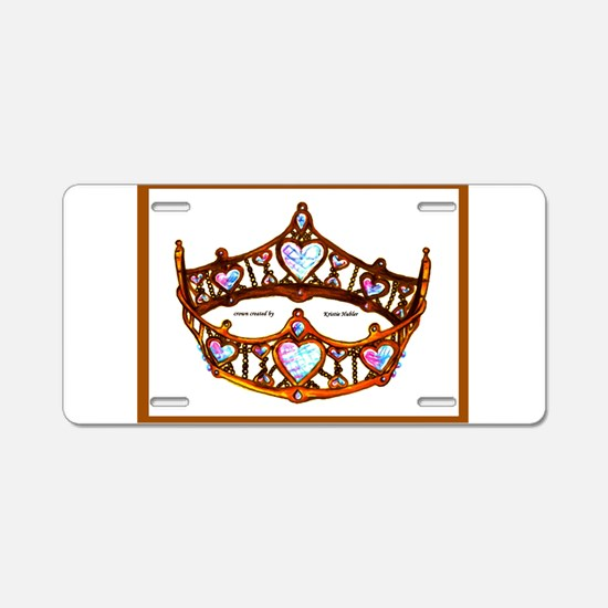 Queen of Hearts Gold Crown Tiara on White Backgrou