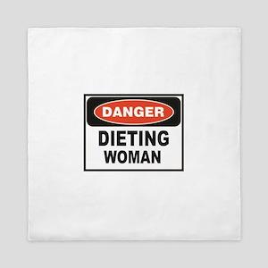 dieting woman fun Queen Duvet