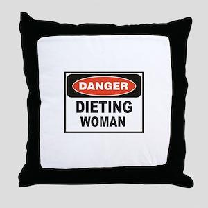 dieting woman fun Throw Pillow