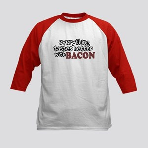 Tastes Better with Bacon Kids Baseball Jersey