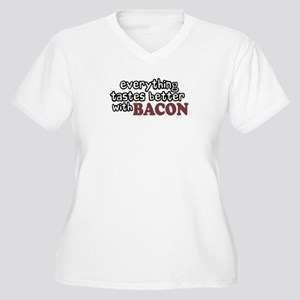 Tastes Better with Bacon Women's Plus Size V-Neck