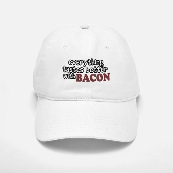 Tastes Better with Bacon Baseball Baseball Cap
