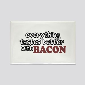 Tastes Better with Bacon Rectangle Magnet