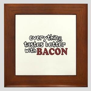 Tastes Better with Bacon Framed Tile